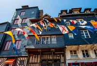 Flags at Honfleur