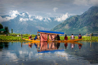 Fishing from Shikara on Dal Lake