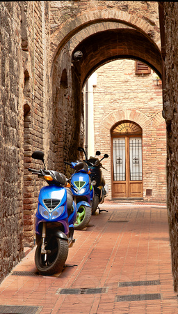 The New Meets the Old, San Gimignano