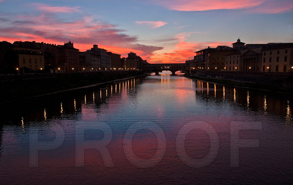 Sunset along the Arno