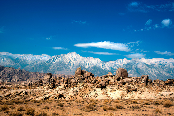 Relief of the Alabama Hills against the eastern SIerras